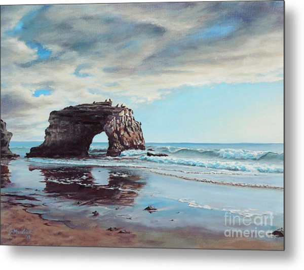 Bridge Rock Metal Print