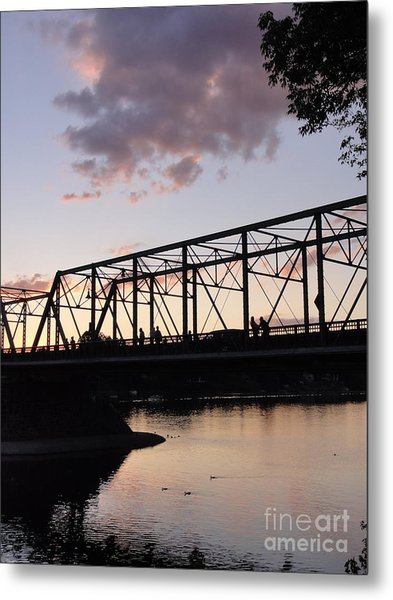 Bridge Scenes August - 1 Metal Print