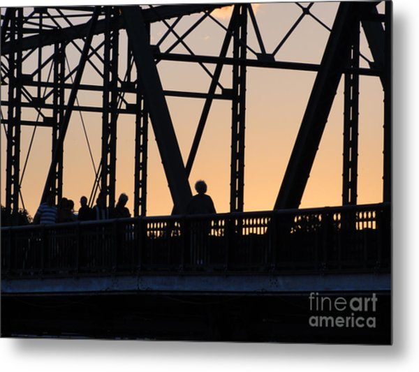 Bridge Scenes August - 2 Metal Print