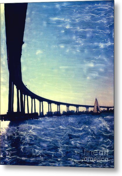 Bridge Shadow - Vertical Metal Print