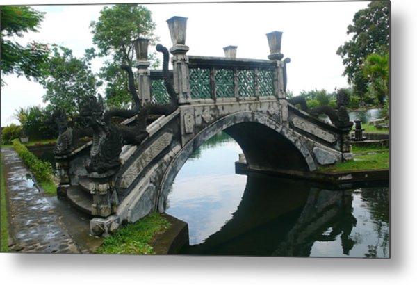 bridge side Bali Metal Print by Jack Edson Adams