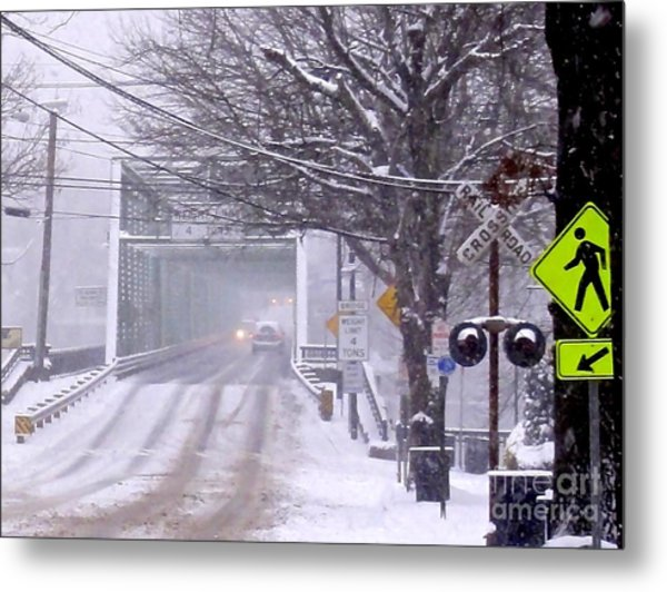 Bridge Street To New Hope Metal Print