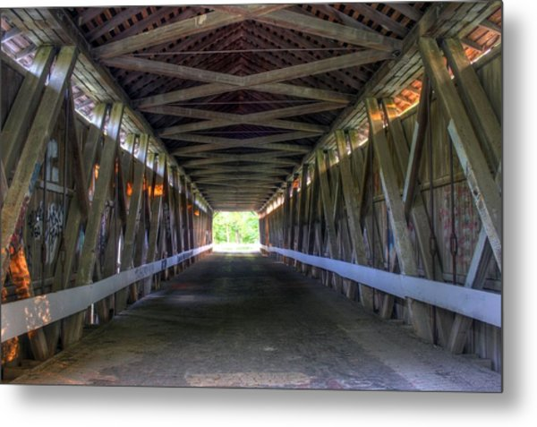 Bridge To Green Metal Print