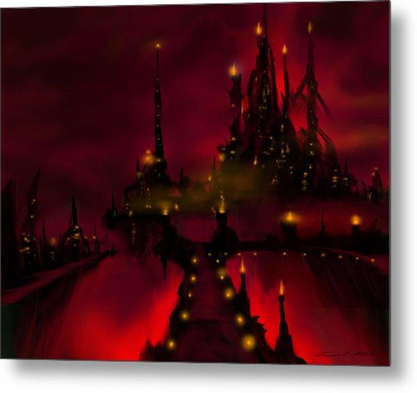 Bridge To Red Castle Metal Print