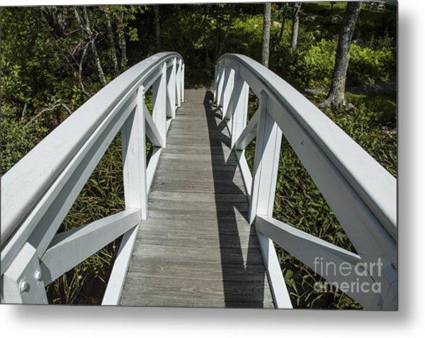 Bridge To Woods Metal Print