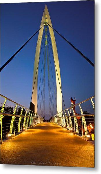 Bridge With Light Metal Print