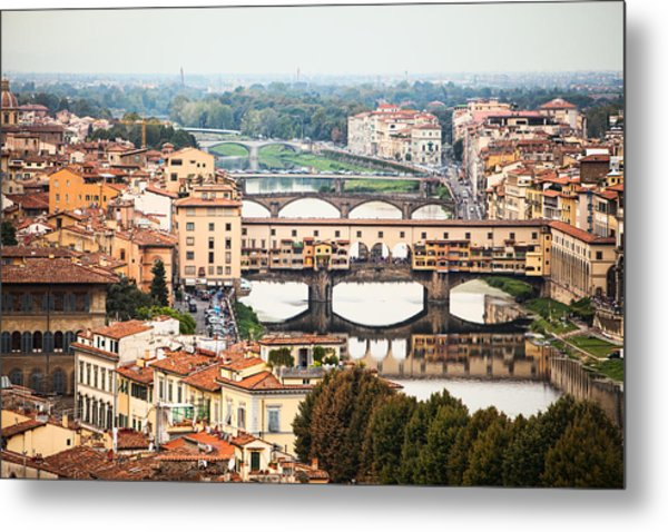 Bridges Of Florence Metal Print