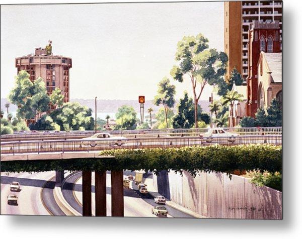 Bridges Over Rt 5 Downtown San Diego Metal Print