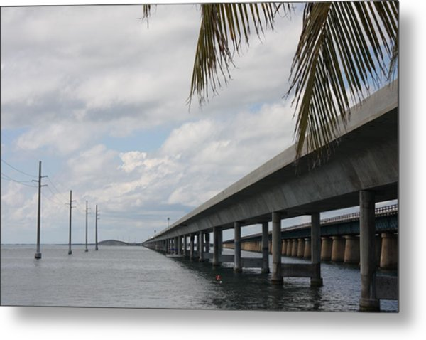 Bridges Over The Sea Metal Print by Christiane Schulze Art And Photography