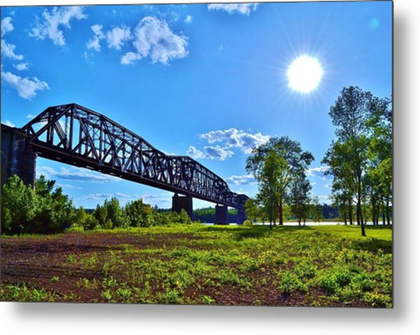 Bridgework Metal Print by Paul Hennrich