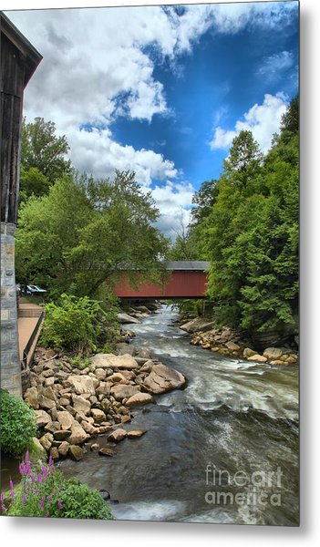 Bridging Slippery Rock Creek Metal Print