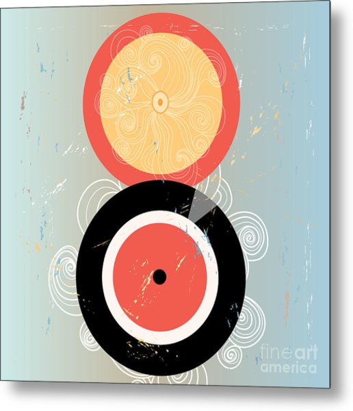 Bright Abstract Background With Plates Metal Print