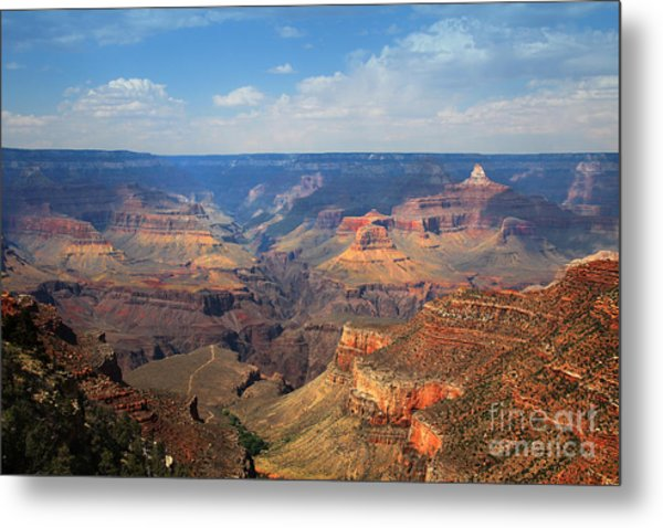 Metal Print featuring the photograph Bright Angel Trail Grand Canyon National Park by Jemmy Archer