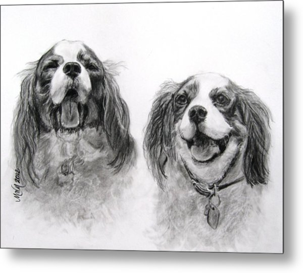 Bright Double Trouble Metal Print