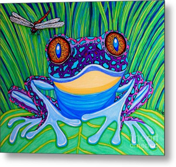 Bright Eyed Frog Metal Print