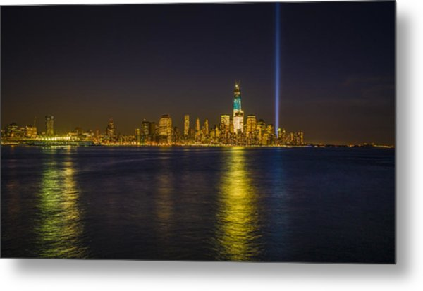 Bright Freedom Tower Metal Print by Chris Halford