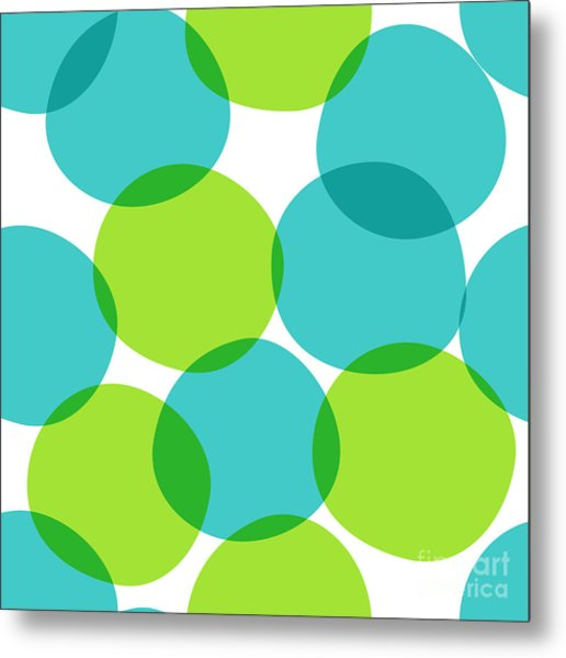 Bright Seamless Pattern With Circles Metal Print by Yanakotina