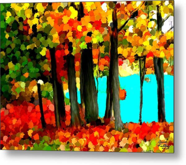 Brightness In The Forest Metal Print