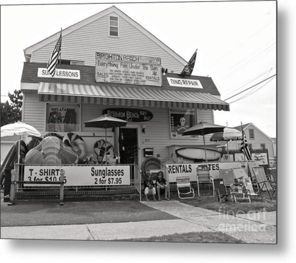 Brighton Beach Surf Shop Metal Print