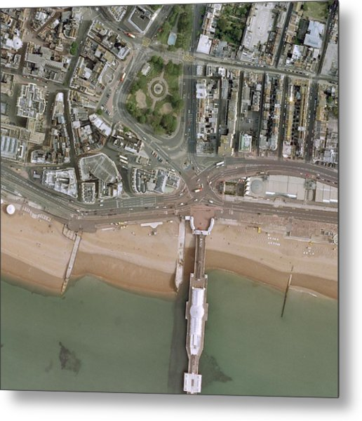 Brighton Pier And Seafront Metal Print