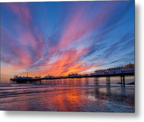 Brighton Sunset Metal Print
