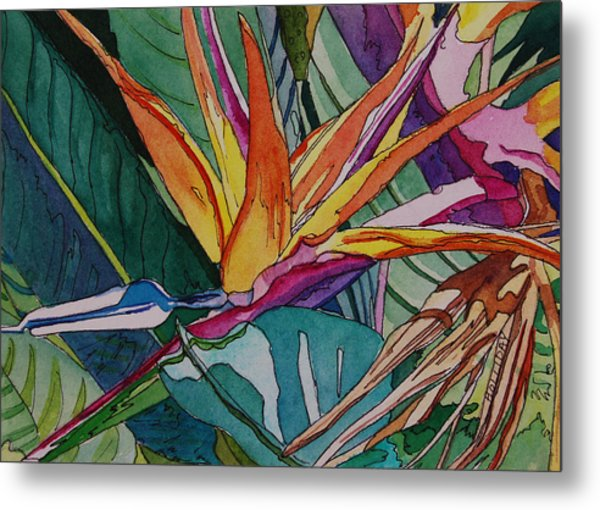 Brillant Bird Of Paradise Metal Print