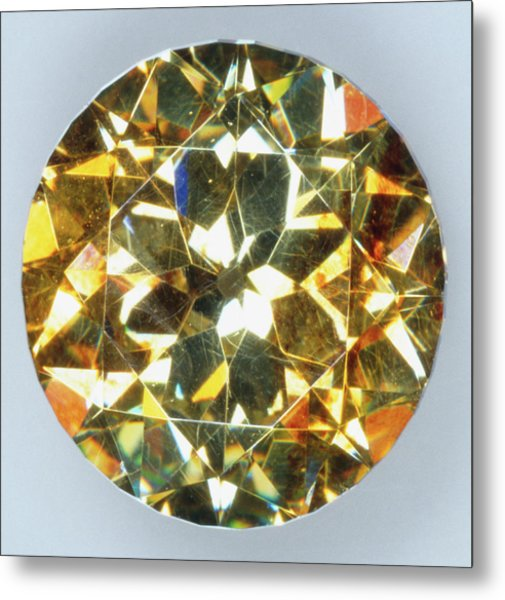 Brilliant-cut Sphalerite Metal Print by Dorling Kindersley/uig