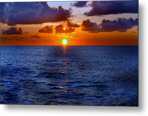 Brilliant Sunset Metal Print by Donna Proctor