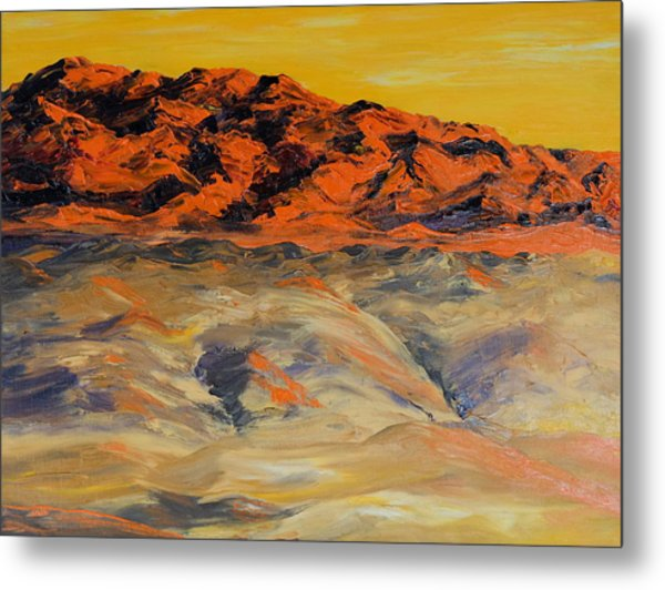 Brilliant Montana Mountains And Foothills Metal Print