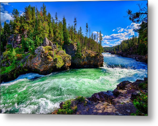 Brink Of Upper Falls Metal Print
