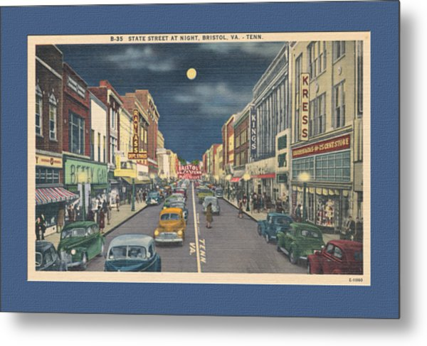 Bristol At Night In The 1940's Metal Print