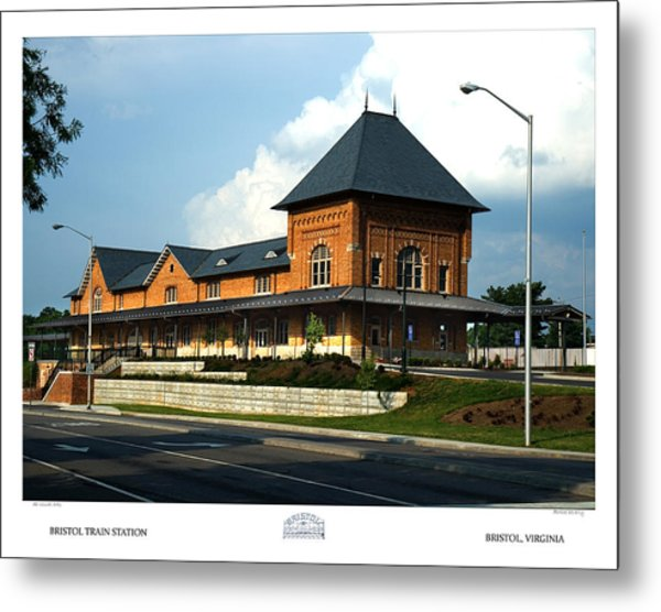 Bristol Train Station Bristol Virginia Metal Print by Denise Beverly
