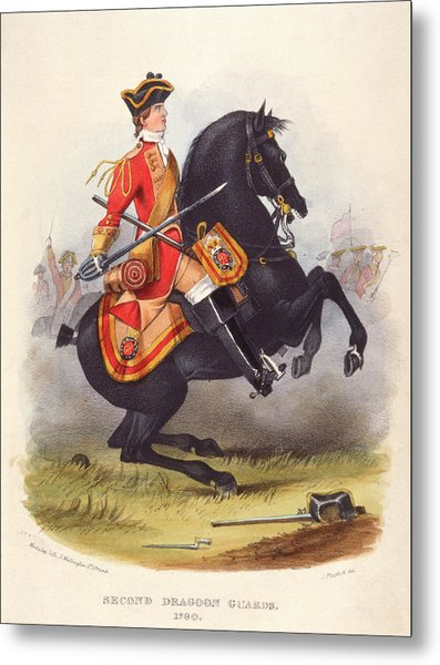 Britain  A Member Of The Second Dragoon Metal Print by Mary Evans Picture Library