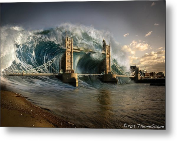 British Tsunami Metal Print by T Dilley