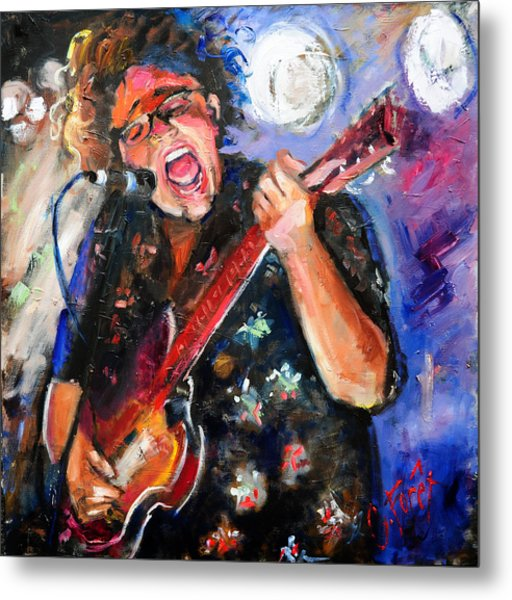 Brittany Howard Of The Alabama Shakes Metal Print by Carole Foret
