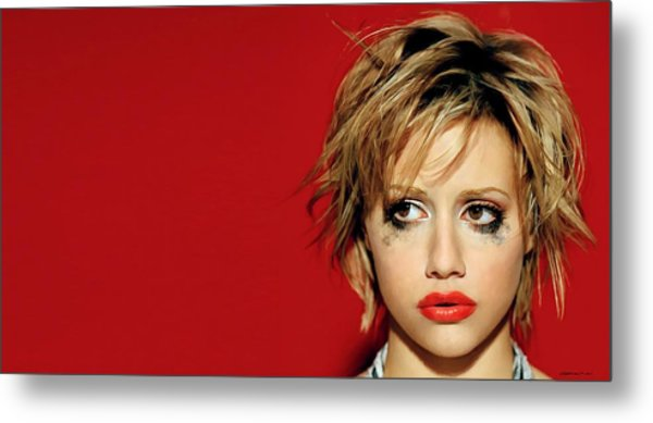 Brittany Murphy Tribute Metal Print