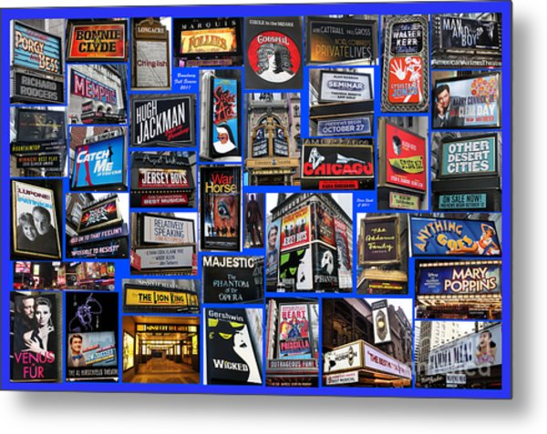 Broadway Collage Metal Print