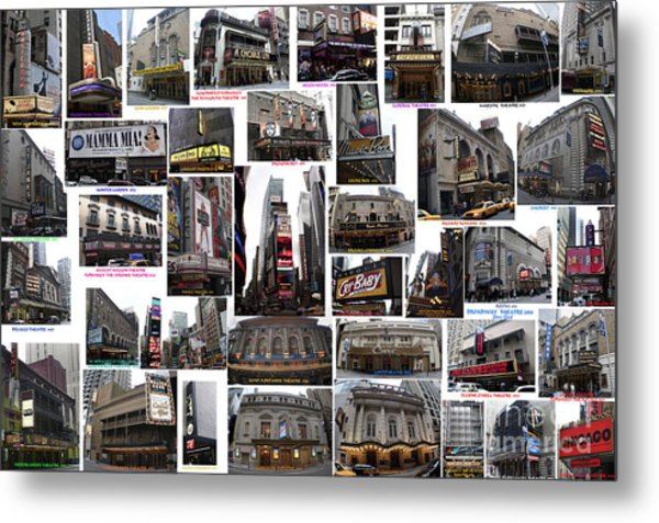 Broadway Theatre Collage Metal Print