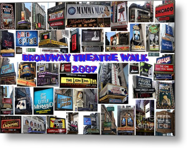 Broadway Theatre Walk 2007 Collage Metal Print