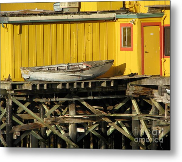 Broken Boat Fisherman's Wharf Metal Print