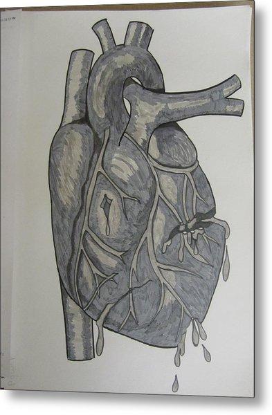 Broken Heart Metal Print by Rosanne Bartlett