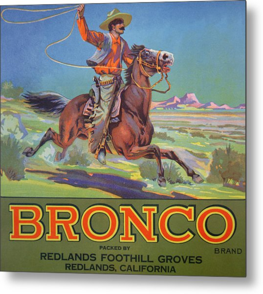 Bronco Oranges Metal Print