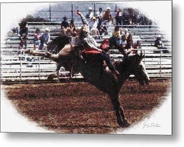 Bronco Rider Reno Rodeo Metal Print