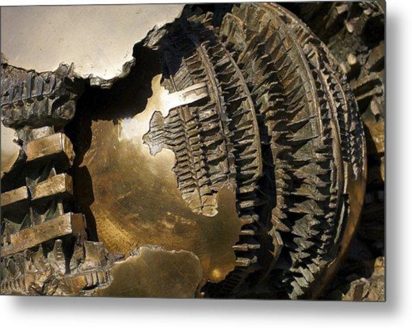 Bronze Abstract Metal Print