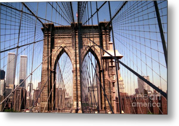 Brooklyn Bridge Before 9/11/01 Metal Print
