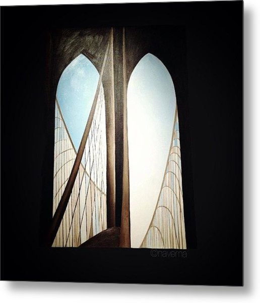 'brooklyn Bridge' By Georgia Metal Print by Natasha Marco