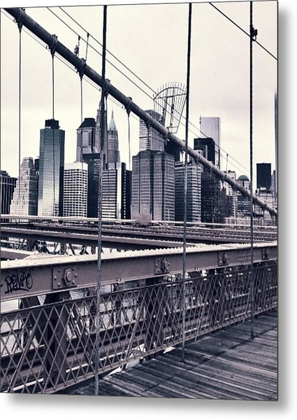 Brooklyn Bridge Metal Print by CD Kirven