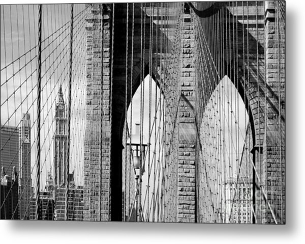 Brooklyn Bridge New York City Usa Metal Print