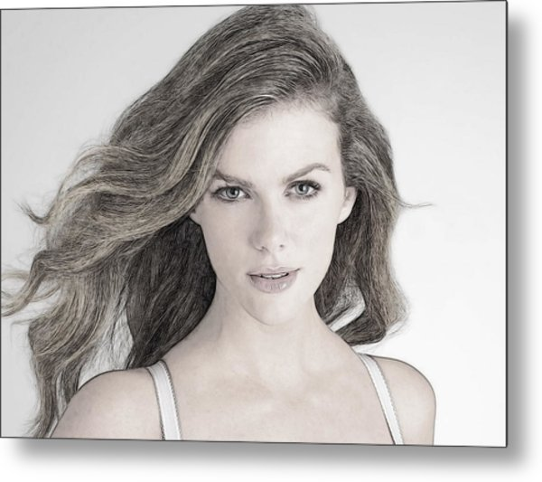 Brooklyn Decker Metal Print