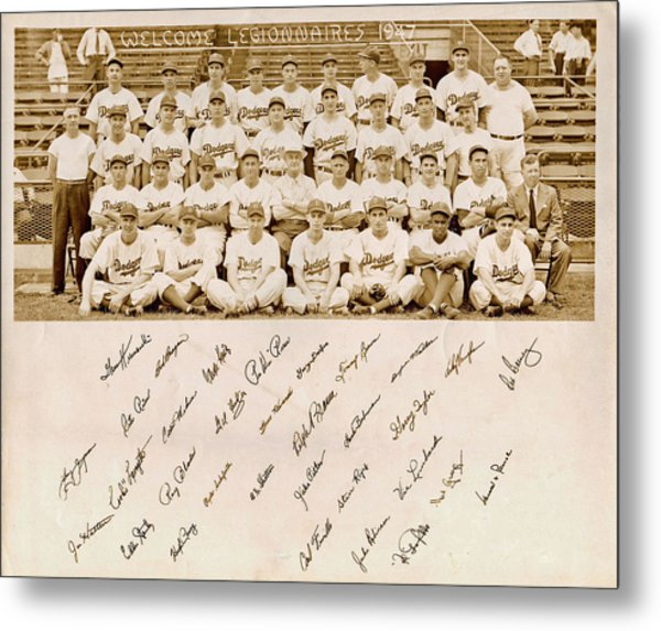 Brooklyn Dodgers Baseball Team Metal Print